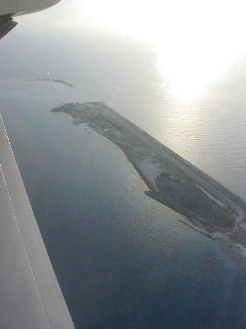 Layang Layang Island in the middle of the South China Sea