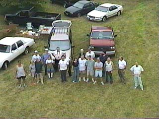 Aerial shot of the KARS Field Day group!