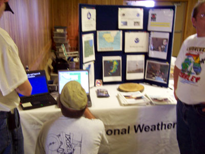 National Weather Service informational booth.