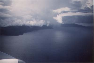 Christmas Island from the plane