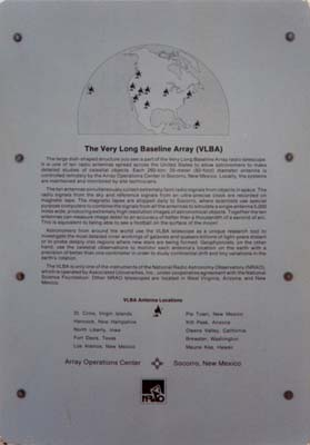 Photo 12 - (Sign on the fence at the VLBA dish)